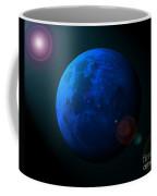 Blue Moon Digital Art Coffee Mug by Al Powell Photography USA