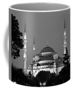 Blue Mosque In Black And White Coffee Mug