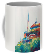 Blue Mosque Sun Kissed Domes Coffee Mug
