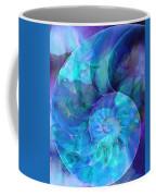 Blue Nautilus Shell By Sharon Cummings Coffee Mug