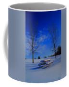 Blue On A Snowy Day Coffee Mug