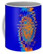 Blue Orange Abstract Coffee Mug