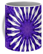 Blue Orchid Sunburst Kaleidoscope Coffee Mug
