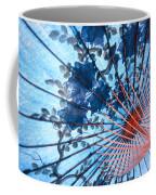 Blue Ornamental Thai Umbrella Coffee Mug
