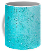 Blue Paint Background Grungy Cracked And Chipping Coffee Mug
