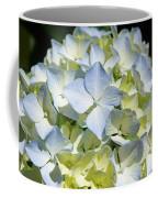Blue Pastel Floral Art Prints Hydrangea Flowers Coffee Mug