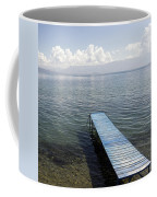 Blue Pier At Lake Ohrid Coffee Mug