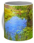 Blue Pond And Water Lilies Coffee Mug