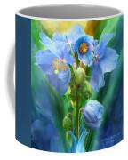 Blue Poppy Bouquet - Square Coffee Mug