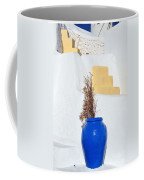 Blue Pot In Oia Town Coffee Mug