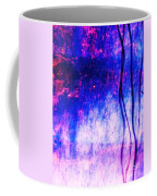 Blue Purple White Metal Coffee Mug