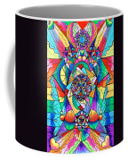 Blue Ray Transcendence Grid Coffee Mug