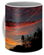 Blue Red And Gold Sunset With Streak Coffee Mug