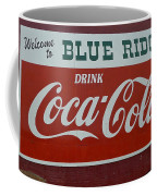 Blue Ridge Coca Cola Sign Coffee Mug