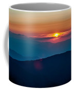 Blue Ridge Parkway Autumn Sunset Over Appalachian Mountains  Coffee Mug