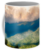 Blue Ridge Parkway Scenic Mountains Overlook Summer Landscape Coffee Mug