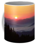 Blue Ridge Parkway Sea Of Clouds Coffee Mug