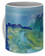 Blue River Landscape I, 1988 Oil On Canvas Coffee Mug
