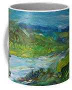 Blue River Landscape II, 1988 Oil On Canvas Coffee Mug