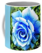 Blue Rose With Brushstrokes Coffee Mug