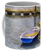 Blue Row Boat Coffee Mug