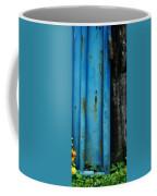 Blue Rusty Farm Gate Coffee Mug