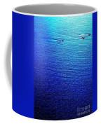 Blue Sand Abstract Coffee Mug