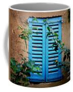 Blue Shuttered Window Coffee Mug