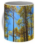 Blue Skies And Golden Aspen Trees Coffee Mug