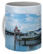 Blue Skies Over Seneca Lake Marina Coffee Mug