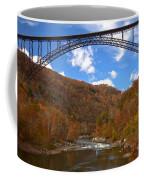 Blue Skies Over The New River Bridge Coffee Mug