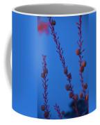 Blue Sky Flowers At Night Coffee Mug
