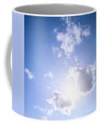 Blue Sky With Sun And Clouds Coffee Mug