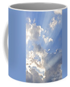 Blue Sky With Sun Rays Coffee Mug