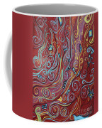 Blue Squiggles Coffee Mug