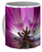 Blue Star Tulip Design Coffee Mug