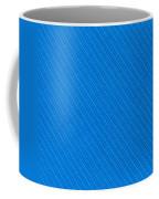 Blue Striped Diagonal Textile Background Coffee Mug