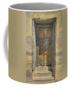 Blue Stripped Door Coffee Mug