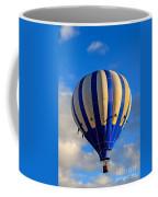 Blue Stripped Hot Air Balloon Coffee Mug