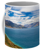 Blue Surface Of Lake Hawea In Central Otago Of New Zealand Coffee Mug