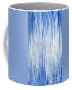 Blue Swoops Vertical Abstract Coffee Mug