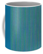 Blue Teal And Yellow Striped Textile Background Coffee Mug