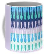 Blue Tie Dye Coffee Mug by Linda Woods