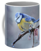 Blue Tit And Blossoms Coffee Mug