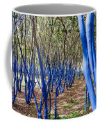 Blue Trees In Nature Coffee Mug