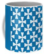Blue Twirl Coffee Mug by Linda Woods