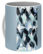 Blue Valentine- Abstract Painting Coffee Mug by Linda Woods