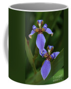 Blue Walking Iris Coffee Mug by Carol Groenen