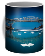 Blue Water Bridge Reflection Coffee Mug