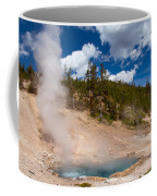 Blue Water White Steam Coffee Mug